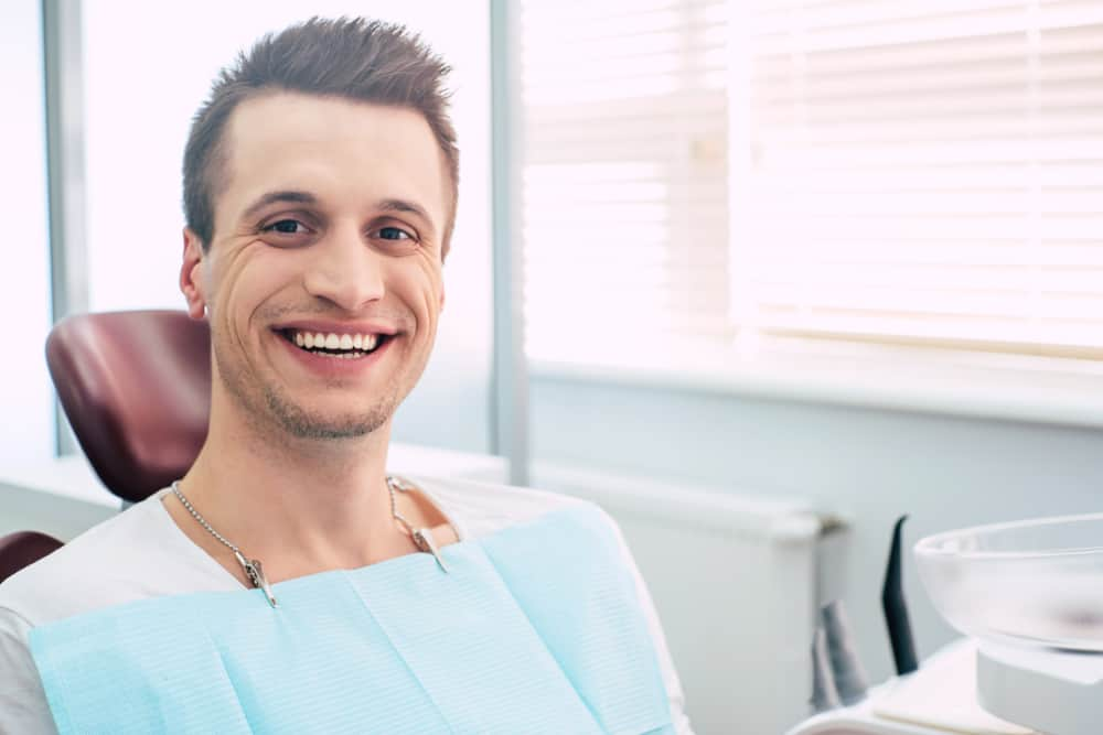 Patient Smiling at Ashfield Dental Clinic